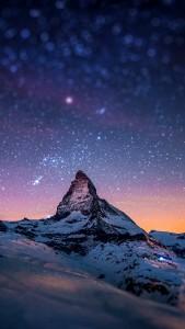 Cervino-Night-Sky-iphone-5-wallpaper-ilikewallpaper_com